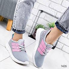 Кросівки жіночі сірі. Кросівки жіночі текстильні. Кеди жіночі. Мокасини жіночі. Кріпери, фото 3
