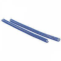 Спираль пластиковая Agent A4, 4:1, 19мм, син, уп/100