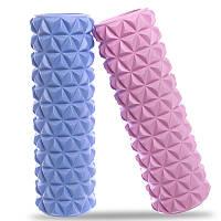 Ролик массажный Triangle Roller 45*14 см для йоги, пилатеса, фитнеса, массажа (FI-8376)
