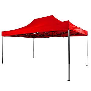 Шатер раздвижной для отдыха 3 м х 4,5 м красный защита от солнца и дождя