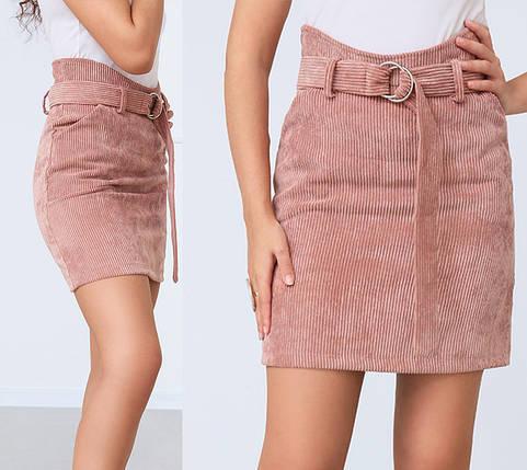 """Вельветовая юбка мини """"Fancy""""  Распродажа модели, фото 2"""