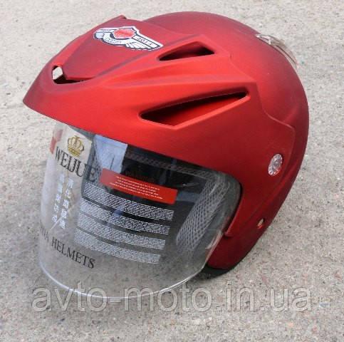 Шлем красный-матовый  без бороды AD-168