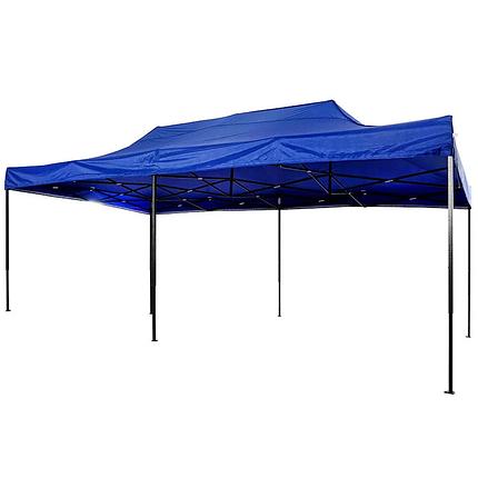 Шатер для отдыха 3 м х 6 м синий раздвижной, фото 2