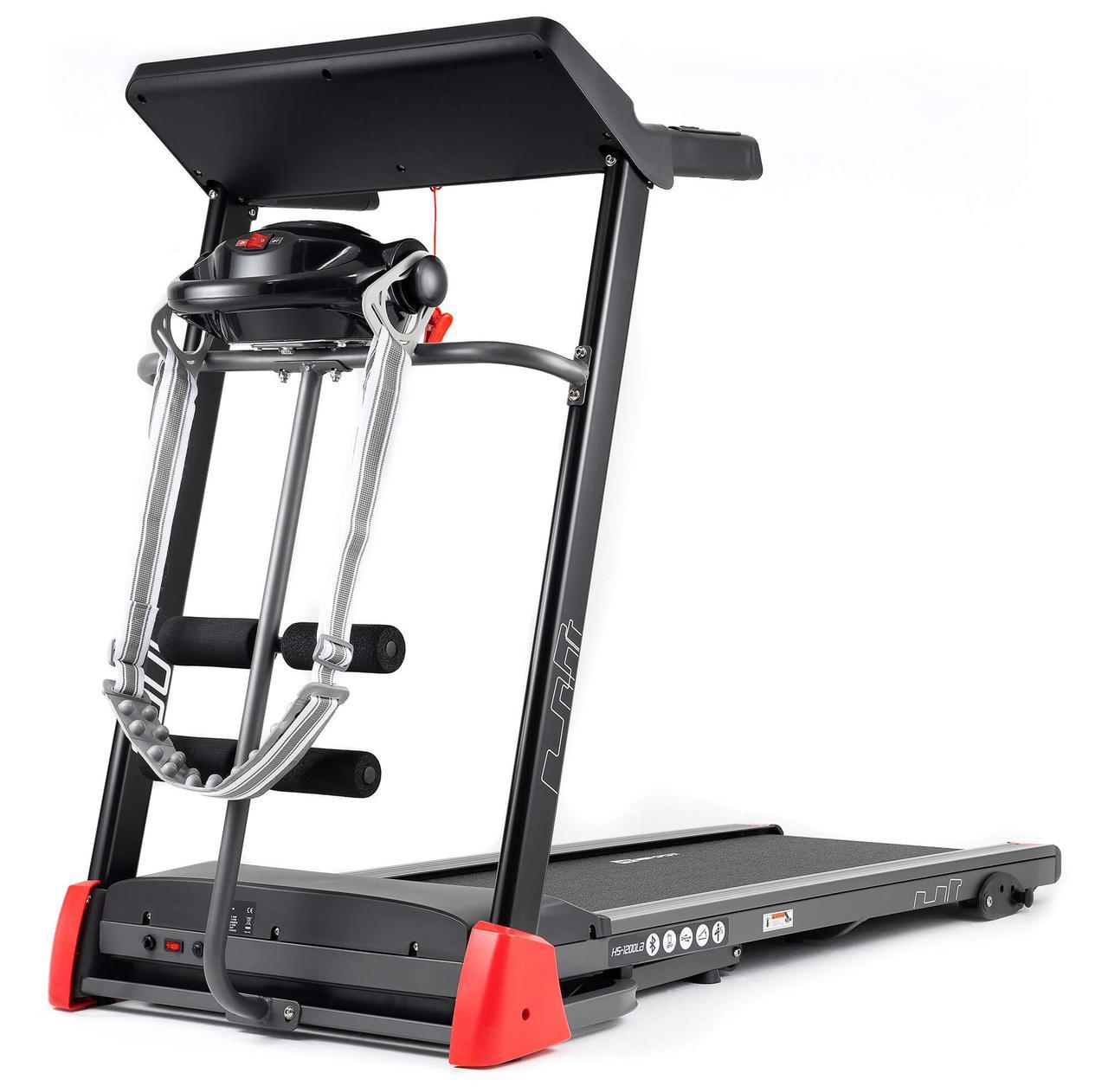 Беговая дорожка для дома с вибромассажером Hop-Sport HS-1200LB Soul до 130 кг электрическая черный