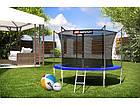 Батут для прыжков с внутренней сеткой 305 см  + мячи в подарок Hop-Sport 10ft синий, фото 3