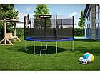 Батут с внешней сеткой 366 см синий Hop-Sport 12ft blue 4 ноги (опоры), фото 3