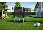 Батут для прыжков с внешней сеткой 305 см  + мячи в подарок Hop-Sport 10ft зеленый, фото 3
