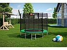 Батут для прыжков с внешней сеткой + мячи в подарок 244 см Hop-Sport 8ft зеленый, фото 2