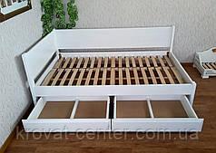 """Белая полуторная кровать из массива дерева от производителя """"Шанталь"""", фото 3"""