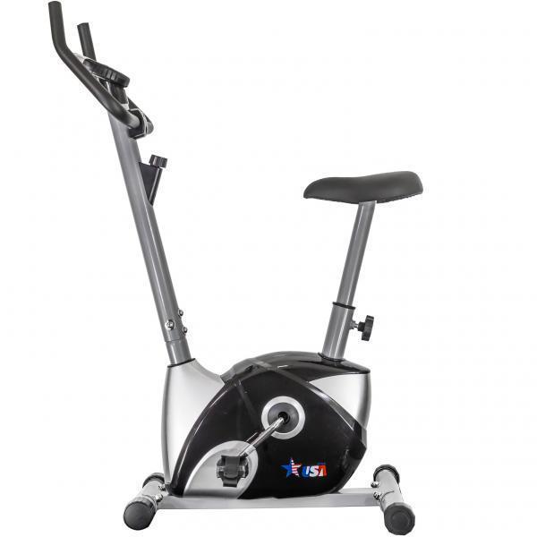 🔥 Велотренажер для дома USA Style GQ114 механический вертикальный до 100 кг черный