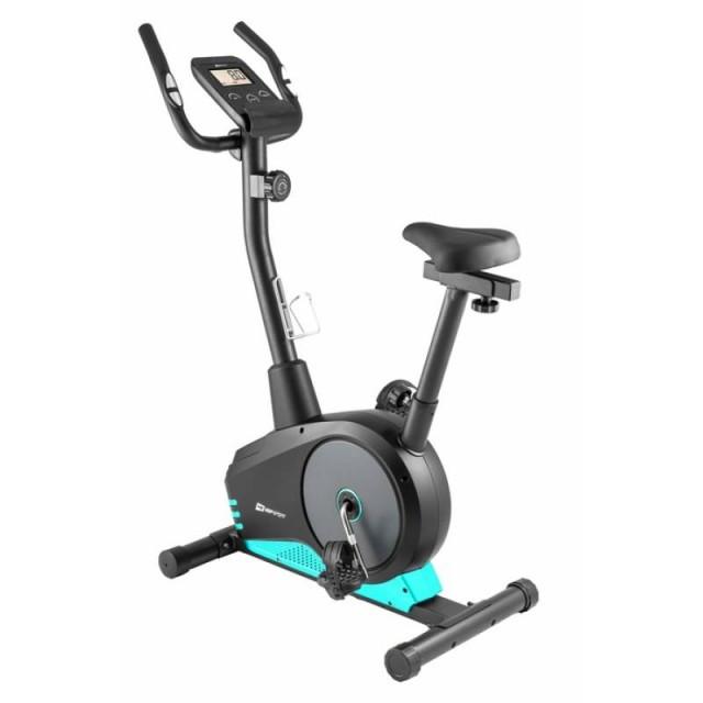 Велотренажер для дома магнитный до 120 кг Hop-Sport HS-2080 Spark model 2020 бирюзовый