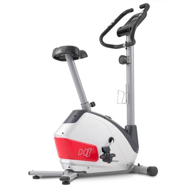 Велотренажер для дома магнитный до 135 кг Hop-Sport HS-035H Leaf серый