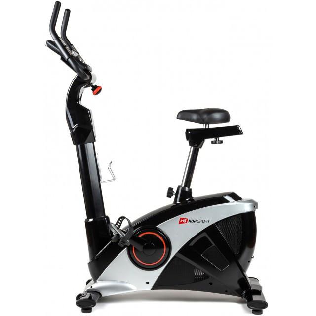 Велотренажер для дома вертикальный до 150 кг Hop-Sport HS-090H Apollo iConsole + мат черный с серым