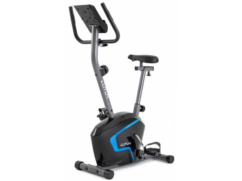 Велотренажер для дома вертикальный до 125 кг магнитный Elitum RX300 черный