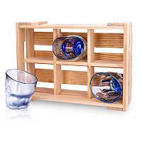 Набор пьяных голографических стаканов для виски Blue (6 шт)
