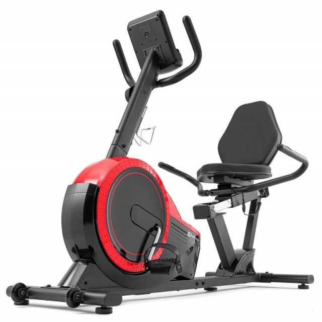 Горизонтальний велотренажер для дома Hop-Sport HS-60L Pulse червоний 2020