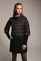 Женский комбинированный пуховик-пальто К-4 из плащевки лаке масло и кашемира., фото 1