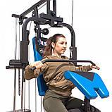 Фітнес станція для будинку багатофункціональна до 125 кг USA Style LKH-114 синій, фото 8