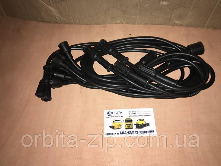 130-3707250 Провода высоковольтные свечные ЗИЛ 130, 131 в комплекте с свечными наконечниками (JANMOR)
