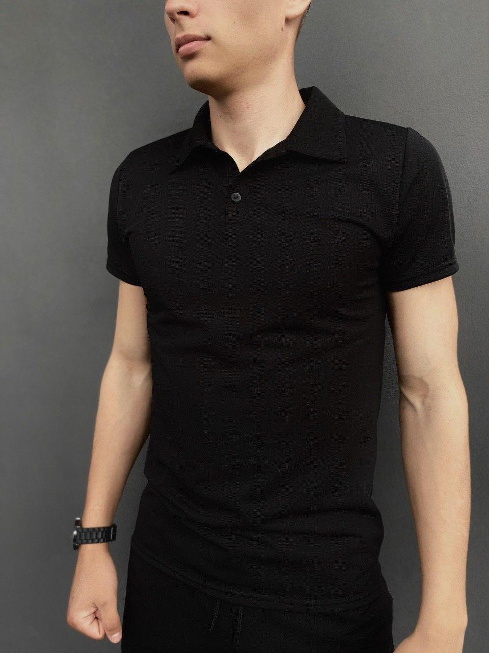 Мужская футболка поло Intruder LaCosta черная в размере S(46) M(48) L (50) XL(52) XXL (54)