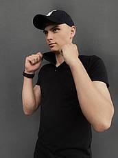 Мужская футболка поло Intruder LaCosta черная в размере S(46) M(48) L (50) XL(52) XXL (54), фото 2