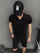 Мужская футболка поло Intruder LaCosta черная в размере S(46) M(48) L (50) XL(52) XXL (54), фото 3