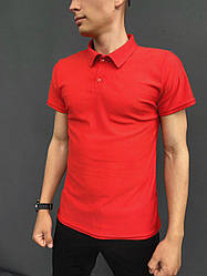 Мужская футболка поло Intruder LaCosta красная в размере S(46) M(48)L (50) XL(52) XXL (54) L, 50