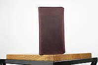 """Кожаный кошелек на купюру марсалового цвета """"travel case"""", фото 5"""
