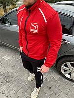 Хит! Мужской спортивный костюм Puma штаны и кофта красный с чёрным S M L XL XXL