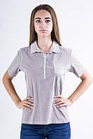 Поло женское 516F439-3 цвет Серая варенка