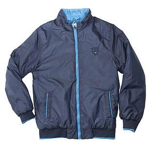 Двухсторонняя куртка-ветровка для мальчика, размер 10 лет