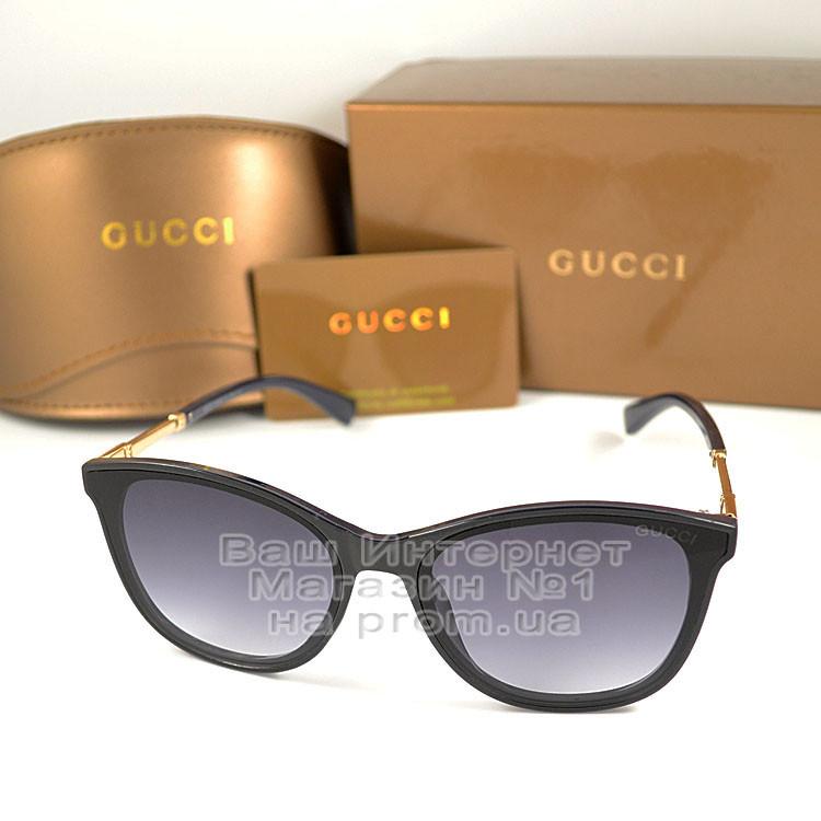 Солнцезащитные очки Gucci классическая модель женские стильная Гуччи качественная реплика