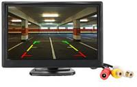 Автомонитор LCD 5дюймов для двух камер ,монитор автомобильный для камеры заднего вида, дисплей