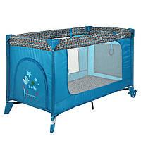 Детский складной манеж-кровать El Camino ME 1016 SAFE Mint Tree