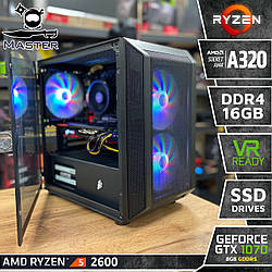 Master A41 . (GTX 1070 8Gb/1650S/RX 590 8Gb I Ryzen 5 2600 I A320 I DDR4 16Gb I SSD)