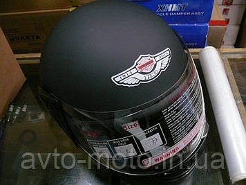 Шлем черный матовый с воротником