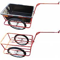 Тележка велосипедная с контейнером 95 л (велоприцеп)