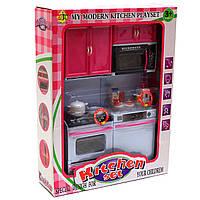 Кухня детская для кукол Kitchen set со световыми и звуковыми эффектами 24х7х32 см (6610-11)