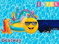Надувные и Каркасные изделия intex, bestway бассейны, матрасы, круги, батуты, насосы, лодки