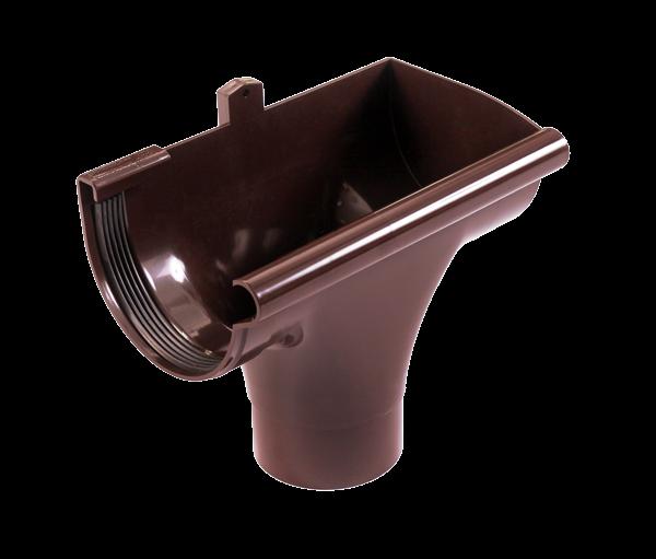 Ливнеприемник правый коричневый 90/75 Profil