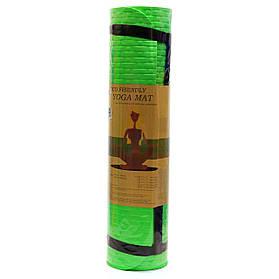 Коврик для йоги и фитнеса Shantou Салатовый йогамат 180х61х0,7 см (MS 2129)