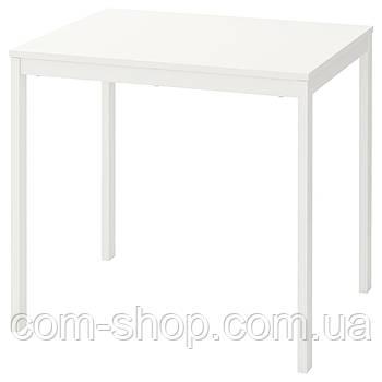 Раздвижной стол IKEA, раскладной, кухонный стол книжка, 80/120x70 см, белый