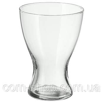 Ваза настольная для цветов IKEA, прозрачное стекло, 20 см