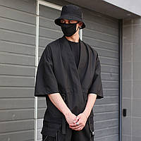 Кимоно чёрного цвета от бренда ТУР модель Лю Кан (Liu Kang),размер S,M,L,XL