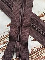 Фурнітура змійка блискавка т. Какао блек нікель р 80