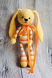 """Вязаная игрушка """"Желтый Зайчик - длинные ушки"""", фото 4"""