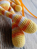 """Вязаная игрушка """"Желтый Зайчик - длинные ушки"""", фото 7"""