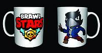 Чашка с принтом Бравл Старс crow