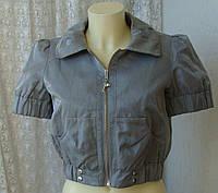 Жакет женский курточка хлопок лен бренд River Island р.42-44 3567, фото 1