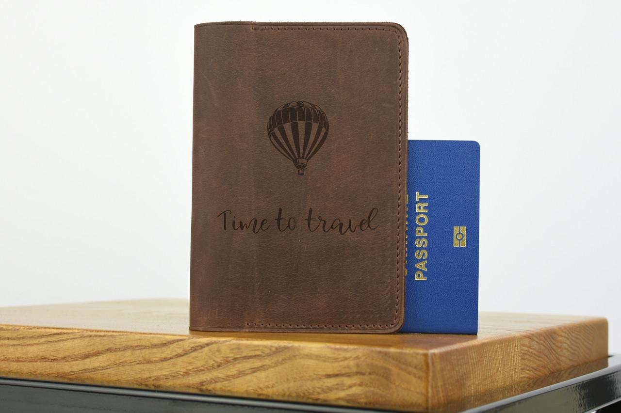 """Обложка для паспорта коричневого цвета """"london"""""""